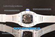 Richard Mille RM 055 9015 Auto Ceramic Case with Skeleton Dial and White Rubber Strap - 1:1 Origianl (KV)