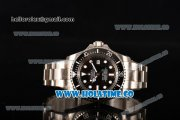 Rolex Deepsea Sea-Dweller Swiss ETA 2836 Automatic Steel Case with Black Ceramic Bezel and White Markers (NOOB)