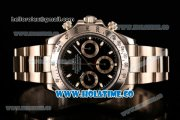 Rolex Daytona II Chrono Swiss Valjoux 7750 Automatic Full Steel with Black Dial and White Stick Markers (JF)
