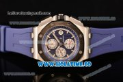 Audemars Piguet Royal Oak Offshore Chrono Clone AP Calibre 3126 Automatic Steel Case with Blue Dial Stick Markers and PVD Bezel (EF)