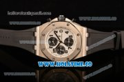 Audemars Piguet Royal Oak Offshore Chronograph Swiss Valjoux 7750 Automatic Steel Case with White Dial and Stick Markers (GF)