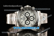 Rolex Cosmograph Daytona Clone Rolex 4130 Automatic Steel Case White Dial With Stick Markers Steel Bracelet - 1:1 Original (AR)