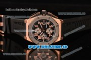 Audemars Piguet Royal Oak Offshore Chronograph Swiss Valjoux 7750 Automatic Rose Gold Case with Steel Bezel Arabic Numeral Markers and Black Dial (EF)