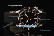Sinn U1 Asia 2813 Automatic Steel Case with PVD Bezel and Black Dial-Black Rubber Strap