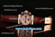Rolex Daytona II Asia 3836 Automatic Rose Gold Case with Black Bezel and White Dial