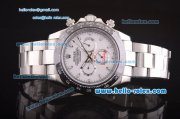 Rolex Daytona II Automatic 7750 Coating Steel Case and Strap with White Dial