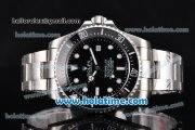 Rolex Sea-Dweller Asia 2813 Automatic Steel Case/Bracelet with Black Dial and White Markers