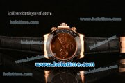 Rolex Daytona II Asia 3836 Automatic Rose Gold Case with Black Bezel and Coffee Dial
