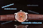 Ulysse Nardin Classico Enamel Champleve Dragon ST22 Automatic Steel Case with Silver Dial and Brown Leather Strap - ETA Coating