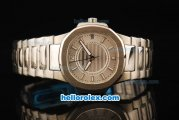 Patek Philippe Nautilus Swiss Quartz Movement Full Steel with Silver Dial and White Markers