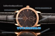 Omega De Ville Co-Axial Asia Automatic Rose Gold Case with Black Dial and Roman Numeral/Stick Markers